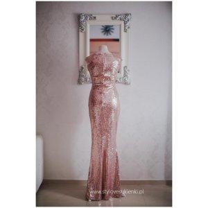 e3f4632a3a Długa złota cekinowa sukienka na sylwestra 2016... - Sukienki ...