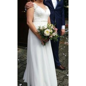 Suknia ślubna W Stylu Rustykalnym Koronka Suknie ślubne
